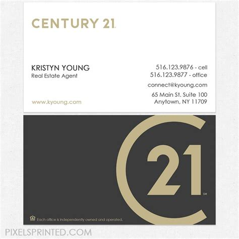 Century 21 Business Cards