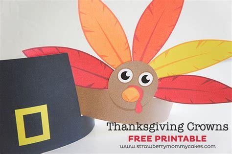 Printable Turkey Crown | thanksgiving turkey indian and pilgrim crowns printable