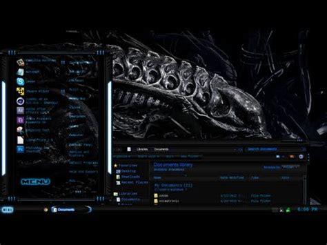 download theme xenomorph for windows 7 xenomorph heavy windows 7 theme youtube