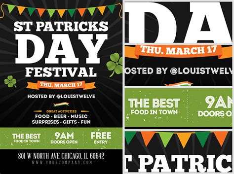 community event flyer template st s day festival flyer template flyerheroes