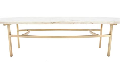 Mid Century Modern Marble Coffee Table Brass And Oval Marble Top Mid Century Modern Coffee Table At 1stdibs