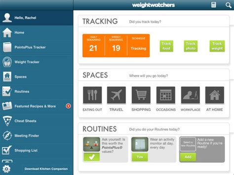 weight watchers android app updated weight watchers 360 176 app launches for ios and android with snap track