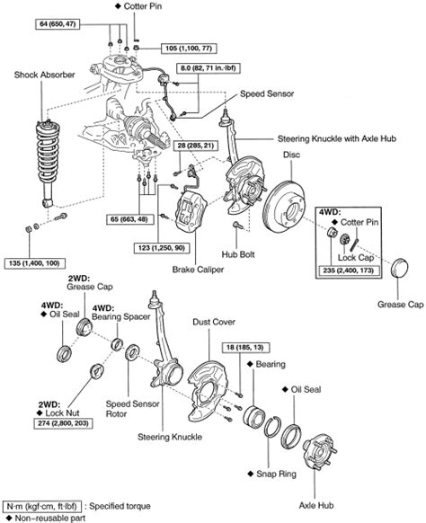 2006 toyota ta front hub assembly toyota tacoma front suspension diagram toyota free