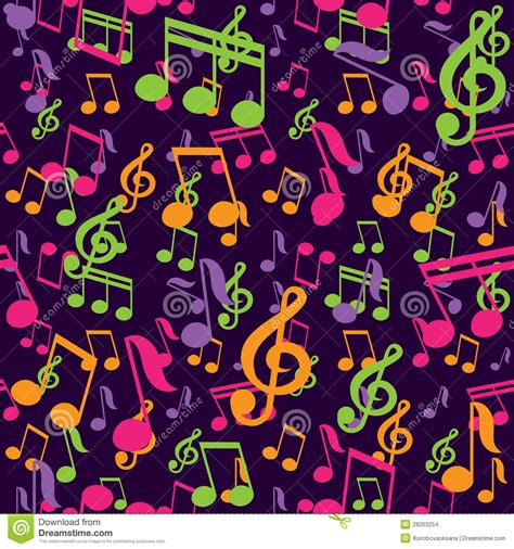 pattern music video vector seamless pattern with music notes stock images