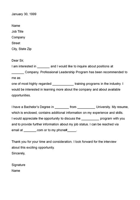 format letter of interest letters of interest sle format business letter