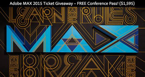 Adobe Max Giveaways - free ticket to adobe max 2015 win a full pass worth us 1 595 prodesigntools