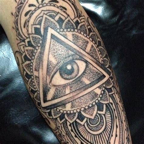 tattoo mandala eye 50 unique triangle eye tattoos ideas