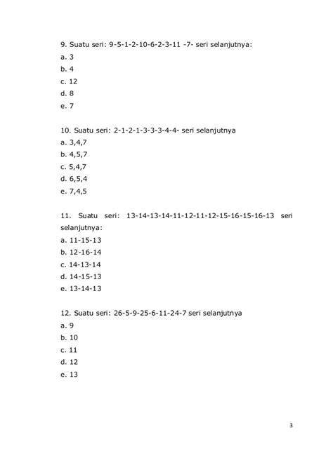 Sks Taklukan Soal Soal Tes Cpns Polri soal2 psikotes pdf gopcompany
