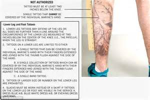 tattoo regulations marines loosen up strict policy allowing unlimited tattoos