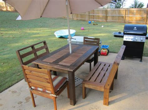 Patio Set Plans by Builders Showcase Customizable Outdoor Furniture The