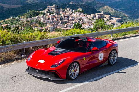 ferrari one off ferrari debuts one off f12 trs barchetta in sicily news