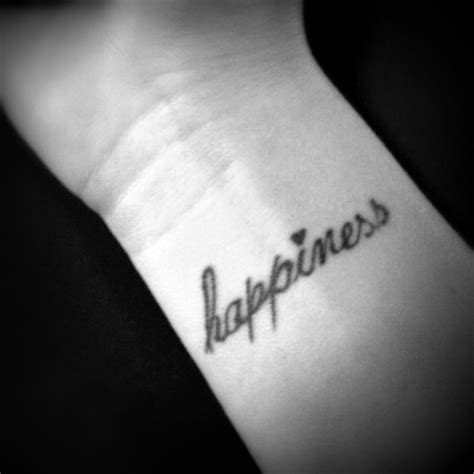 happiness tattoos happiness wrist tattoos wrist