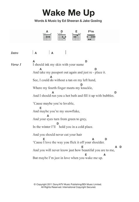 tutorial guitar wake me up wake me up by ed sheeran guitar chords lyrics guitar