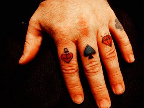 card suit tattoo designs 21 bad knuckle tattoos me now