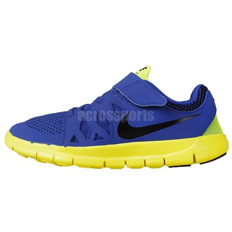 nike velcro shoes nike nike free 5 psv blue yellow 2014 youth preschool