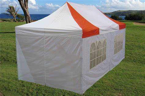 pop up tent awning 10 x 20 red and white pop up tent canopy gazebo