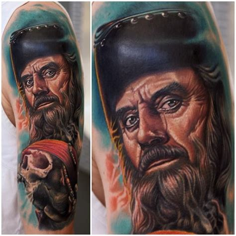 awesome blackbeard tattoo by nikko hurtado tattoos