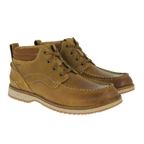 clarks mens boots mahale mid leather shoetique