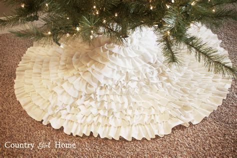 How To Make A Tree Skirt - country home ruffle tree skirt