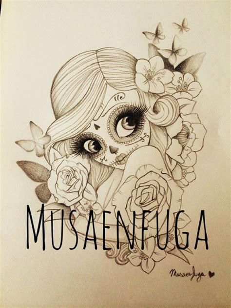 tattoos de catrinas mi dise 241 o de de catrina por musaenfuga www