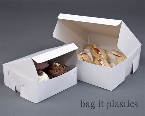 How To Make A Cupcake Box Out Of Paper - fold flat white square cardboard cake boxes cupcake box