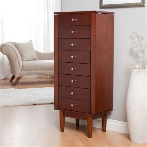 jewelry armoire contemporary juno vintage modern jewelry armoire walnut