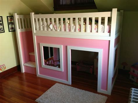 playhouse loft bed ana white playhouse loft bed with stairs diy projects