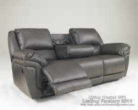 gray leather reclining sofa magician durablend slate reclining living room set bed