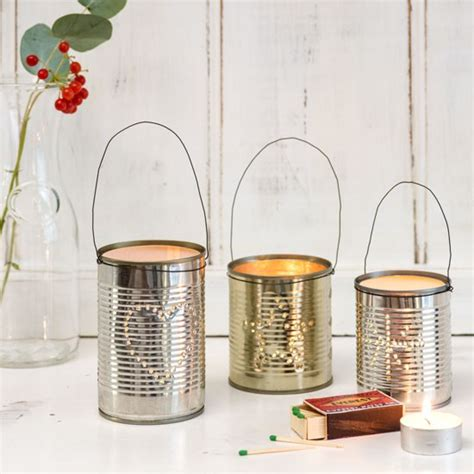 tin decorations white living room with tin can lanterns budget