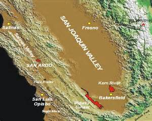 map satellite images of the san joaquin valley