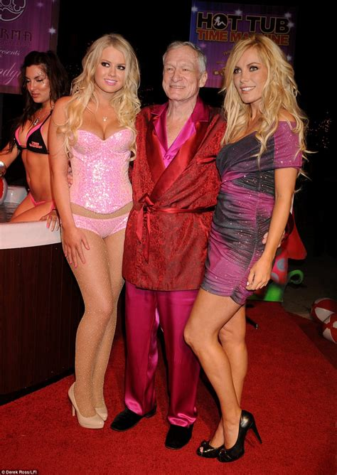 Hugh Hefner And On Baby Theres Been Lots Of Trying by Hugh Hefner S Harris Will Inherit Nothing