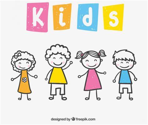 imagenes vectores infantiles descarga gratis este vector con dibujos simples de ni 241 os y