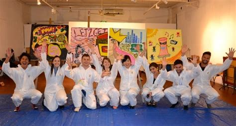painting for team building creative team building activities paint canvases or