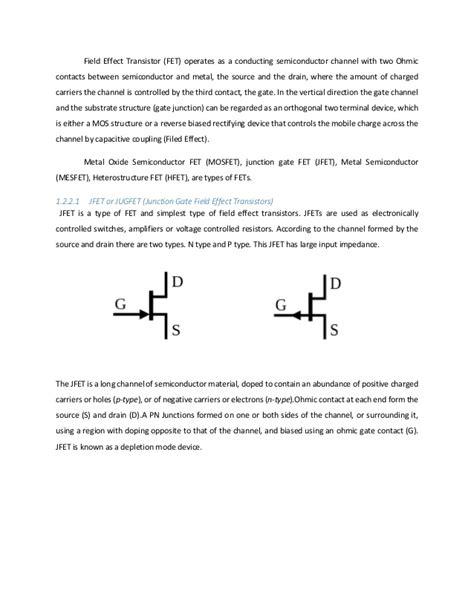 fet transistor difference transistor bjt fet 28 images n channel jfet biasing junction field effect transistor