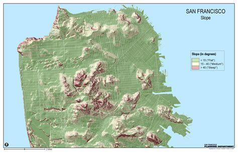 san francisco hill map of san francisco map