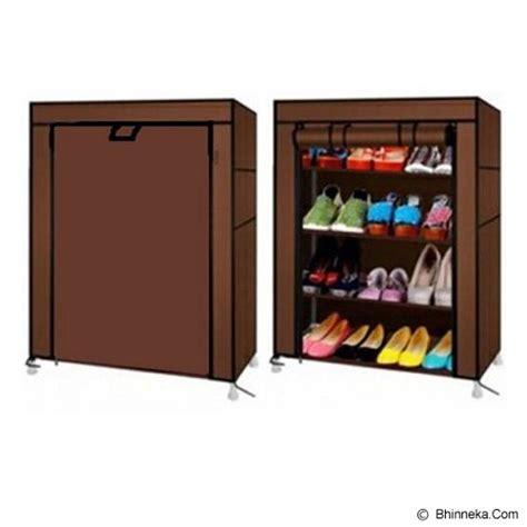 Rak Sepatu Anti Debu jual e sigma rak serbaguna anti debu 4 tingkat 5 cover