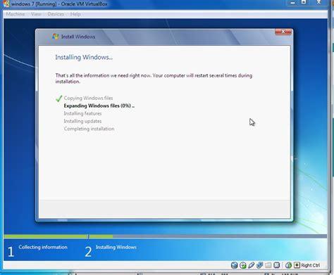 tutorial instal windows 7 di pc tutorial cara menginstal windows 7 di virtualbox