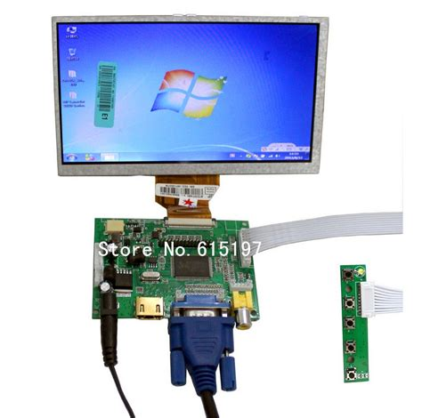 Lcd Touchscreen 7 quot raspberry pi lcd touch screen display tft monitor at070tn90 with touchscreen kit hdmi vga