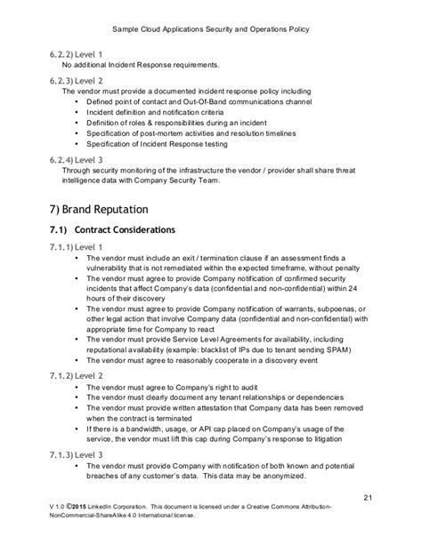 pci incident response plan template sle cloud application security and operations policy