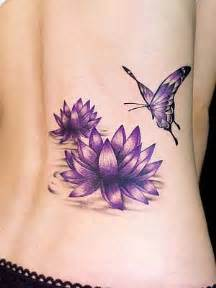 Purple Lotus Flower Meaning Purple Lotus Flower With Butterfly Busbones