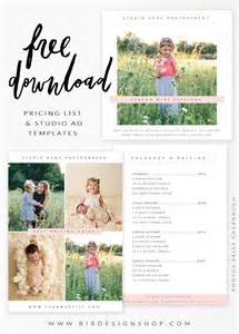 portrait pricing template 25 best ideas about photography templates free on