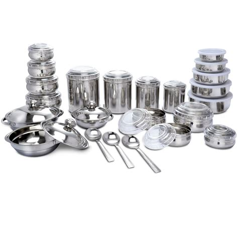 buy kitchen queen 43 pcs buy 43 pcs stainless steel storage serving set online at