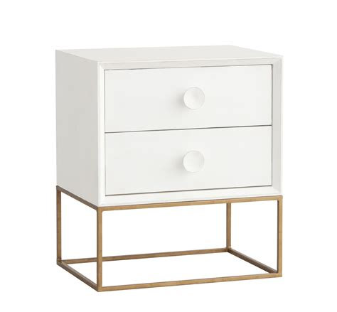 White And Gold Nightstand Spencer Nightstand