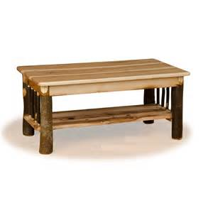 Oak gt rustic hickory amp oak tables gt rustic hickory log coffee table