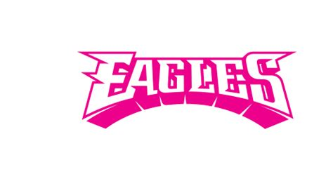pink eagles wallpaper flock philadelphia eagles script logo 1996 pesent iron on
