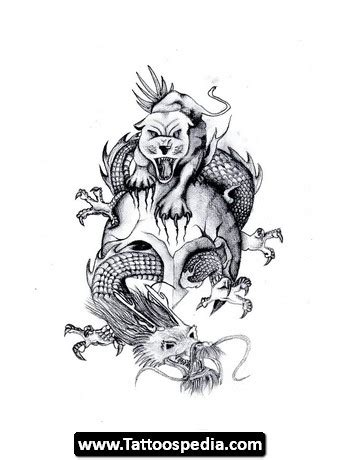 chinese dragon and tiger tattoo designs 45 and tiger tattoos designs with meanings