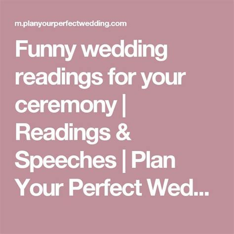 Best 20  Wedding readings funny ideas on Pinterest