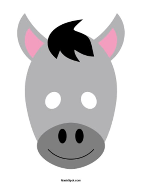 printable donkey mask