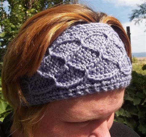 knitted ear warmer pattern knit ear warmer pattern a knitting