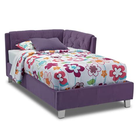 Jordan Twin Corner Bed Purple Value City Furniture Purple Bed Frame